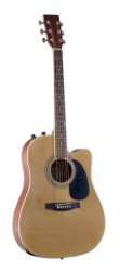Johnson JG650TN Natural Thinline Acoustic Electric Guitar (JG650TN)